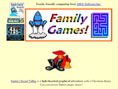 Family Games front page in 1996