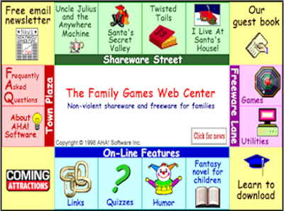 Family Games front page in 1998