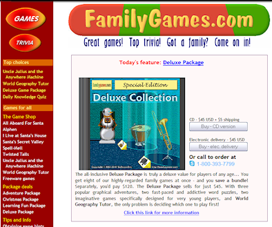 Family Games front page in 2005